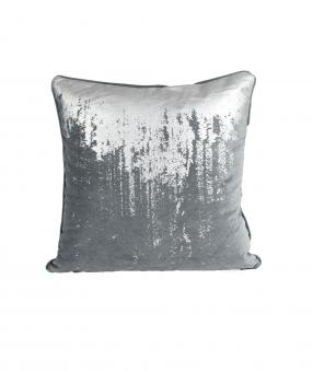 Dekokissen Reginald 50x50 cm | Charcoal Silver | inklusive Füllkissen