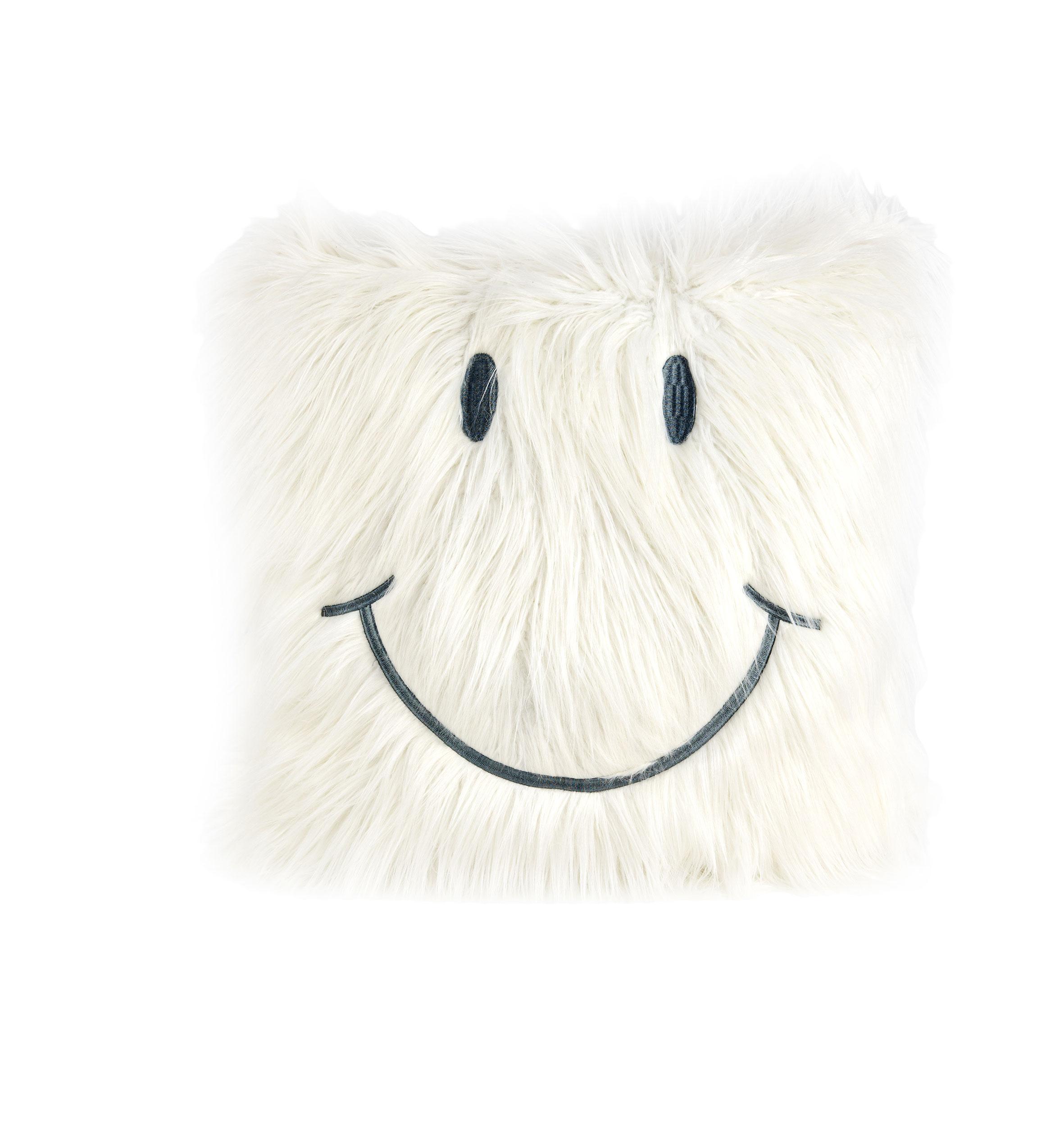 dekokissen smiley 50x50 cm cloud dancer gray ohne. Black Bedroom Furniture Sets. Home Design Ideas